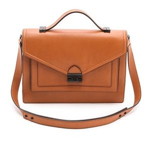 Loeffler Randall Rider Satchel Leather - POCKETS!